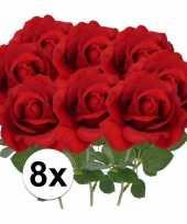 Goedkope x kunstbloem roos carol rood 10101791
