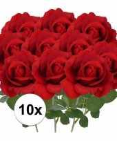 Goedkope x kunstbloem roos carol rood 10101792