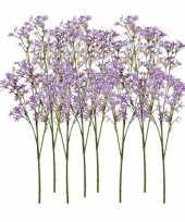 Goedkope x kunstbloemen kroonkruid takken paars 10125454