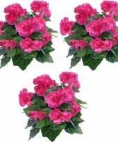 Goedkope x kunstplanten begonia roze