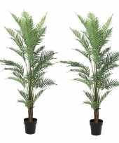 Goedkope x kunstplanten groene varen binnen