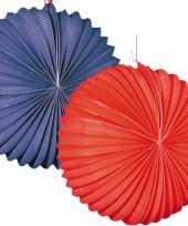 Goedkope x lampionnen blauw rood