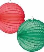 Goedkope x lampionnen groen rood
