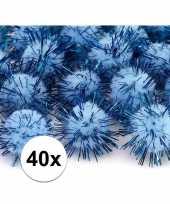 Goedkope x lichtblauw knutsel pompons mm