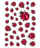 Goedkope x lieveheersbeestje dieren stickers 10139717