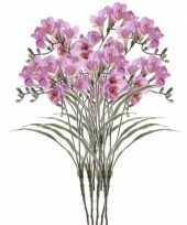 Goedkope x lila freesia kunstbloemen 10114580
