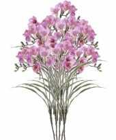 Goedkope x lila freesia kunstbloemen 10114581