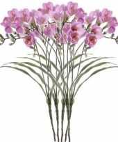Goedkope x lila freesia kunstbloemen