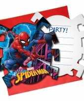 Goedkope x marvel spiderman themafeest uitnodigingen 10150766