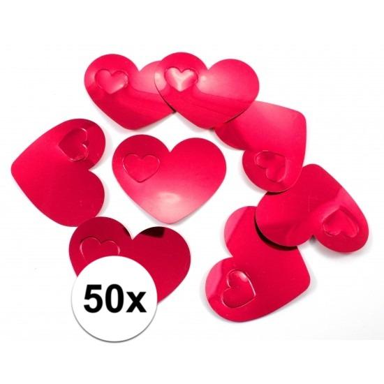 Goedkope x mega confetti rode hartjes 10101583
