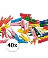 Goedkope x miniknijpertjes gekleurd 10095903