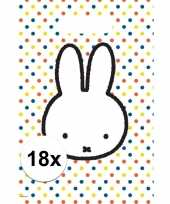 Goedkope x nijntje themafeest uitdeelzakjes snoepzakjes 10153471