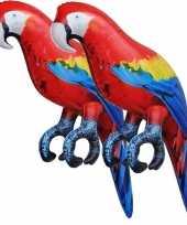 Goedkope x opblaasbare ara papegaaien vogels decoratie speelgoed