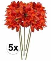Goedkope x oranje gerbera kunstbloemen 10105973