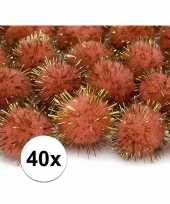 Goedkope x oranje knutsel pompons mm 10108093