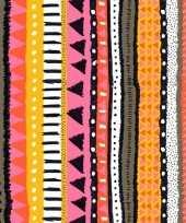 Goedkope x oranje roze servetten motief