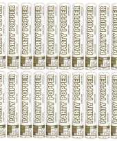 Goedkope x oud nieuw confetti kanon metallic goud zilver mix 10133677