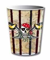 Goedkope x piraat themafeest drinkbekertjes