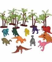Goedkope x plastic speelgoed dinosaurussen emmer