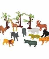 Goedkope x plastic speelgoed wilde dieren emmer