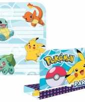 Goedkope x pokemon themafeest uitnodingen kaarten
