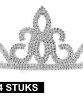 Goedkope x prinsessen tiara zilver dames 10145252