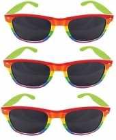 Goedkope x regenboog feest brillen volwassenen 10157866