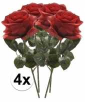 Goedkope x rode rozen simone kunstbloemen 10107265