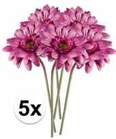 Goedkope x roze gerbera kunstbloemen 10105876