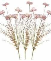 Goedkope x roze papaver klaproos gedroogde kunstbloemen 10154644