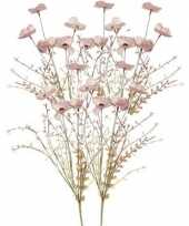 Goedkope x roze papaver klaproos gedroogde kunstbloemen 10154645