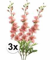 Goedkope x roze ridderspoor kunstbloemen tak