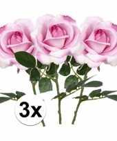 Goedkope x roze rozen carol kunstbloemen 10107211