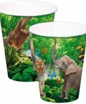 Goedkope x safari jungle themafeest bekertjes ml