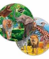 Goedkope x safari jungle themafeest bordjes