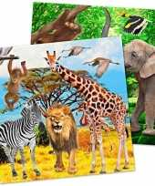 Goedkope x safari jungle themafeest servetjes