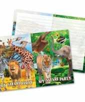 Goedkope x safari jungle themafeest uitnodigingen 10145199
