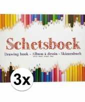 Goedkope x schetsboeken tekenboeken a formaat vellen 10138971