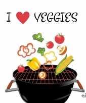 Goedkope x servetten bbq i love veggies 10145315