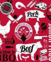 Goedkope x servetten bbq rood zwart wit 10145313