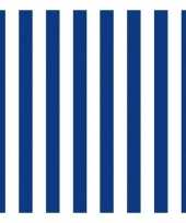 Goedkope x servetten gestreept marineblauw wit laags