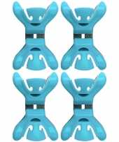 Goedkope x slingers decoratie ophangen slingerklemmen blauw