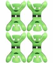 Goedkope x slingers decoratie ophangen slingerklemmen groen