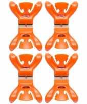 Goedkope x slingers decoratie ophangen slingerklemmen oranje 10148747