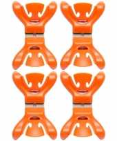 Goedkope x slingers decoratie ophangen slingerklemmen oranje