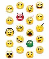 Goedkope x smiley emoticons stickers d effect zacht kunststof 10139680