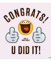 Goedkope x smiley geslaagd diploma behaald servetten 10147363