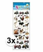 Goedkope x stickervel boerderij dieren