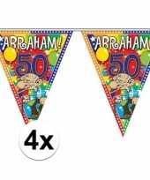 Goedkope x stuks abraham jaar versiering vlaggenlijnen meter 10126968
