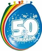 Goedkope x stuks ballonnen versiering jaar abraham 10123049